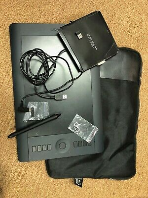 Gently Used Wacom Intuous Pro Medium Drawing Tablet with Pen, extra nibs & more
