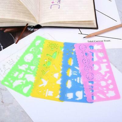 4X Ruler Candy Color School Painting Supplies Drafting Mode Art Drawing Tem T5V0