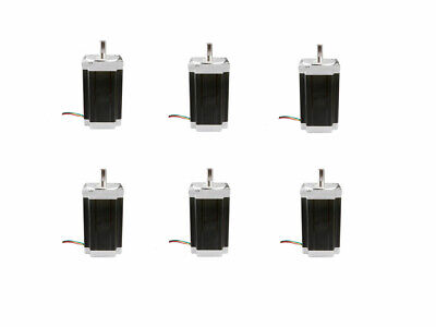 6PC Nema34 stepper motor 1700oz.in 6A 4wires single shaft length 151mm 34HS5460
