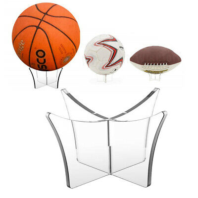 Acrylic Clear Ball Display Stand Football Basketball Rugby Soccer Holder Riser