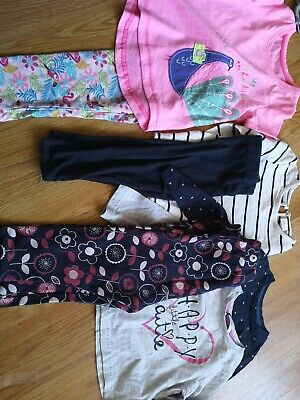 #18 Girls qty 3 Outfits 12-24 Months Matalan NEXT George Tops And Leggins casual
