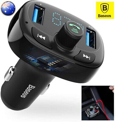 Baseus Handsfree Wireless Bluetooth USB Car FM Transmitter Music Player Adapter
