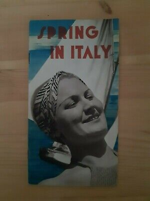 Italian State Tourist Department ENIT Guide. Spring In Italy, 1936