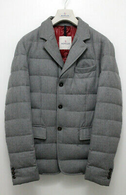 Authentic Moncler RODIN Real Down Wool Jacket with CERTILOGO Size 3 UK 40 LARGE