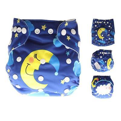 Washable Baby Diapers Cartoon Print Baby Nappy Changing Reusable Baby Diapers N