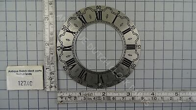 Antique Dutch 1 Day Zaandam Or Zaanse Wall Clock Aluminium Dial
