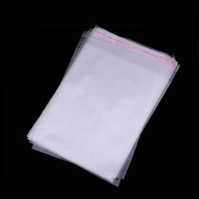 """100 Bags 4"""" x 7"""" Clear Self Seal Lip & Tape Plastic Bags Cello OPP Polypropylene"""