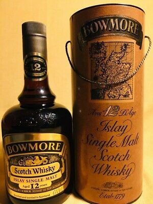Bowmore 12 years Single Malt Scotch Whisky, bottled in 1980s. 75cl, 43%