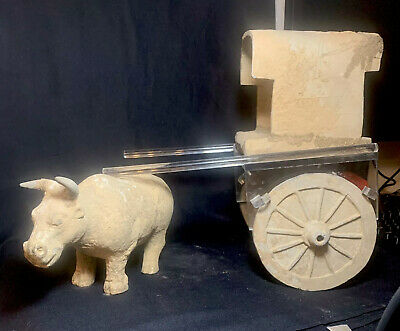 Ancient Han Dynasty Authentic Ox And Cart (NO DAMAGE OR REPAIRS) RARE!