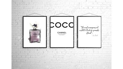 Coco Chanel A4 Wall Print Bedroom Dressing Room Home Poster Art Set Of 3 Gift 5