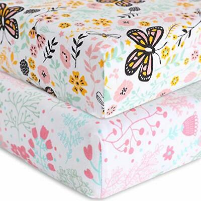 Little Guapo Jersey crib bed sheet set - Universal Fitted cotton Pink crib