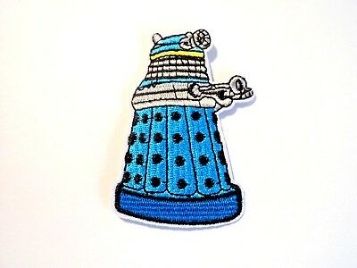 1x Doctor Who Dalek Patch Embroidered Cloth Applique Badge Iron Sew On