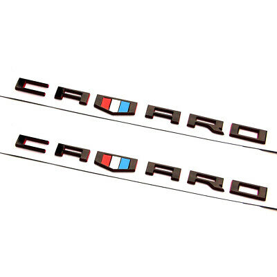 1x OEM Grille SS 3D Emblem Badge  For Camaro Chevy series Red line Y