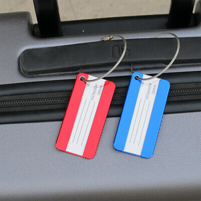 Rectangle Travel Luggage Tag Baggage Suitcase ID Identity Address Name Labels Ns