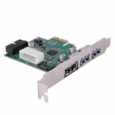 PCIe to Dual USB 3.0 & 1 Port Power eSATA Expansion Card Hub Controller Adapter
