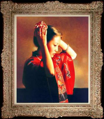 "Hand painted Original Oil Painting Portrait art chinese girl on canvas 20""x24"""