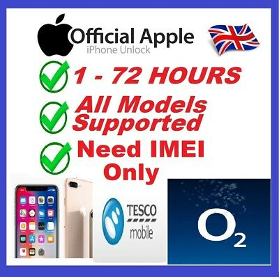 Factory Unlocking Service for iPhone XS , X, 8 & 8 PLUS O2-UK Tesco & Giffgaff