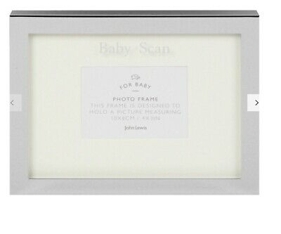 John Lewis Silver Plated Baby Scan Frame NEW Chistening/New Baby Shower Gift Set