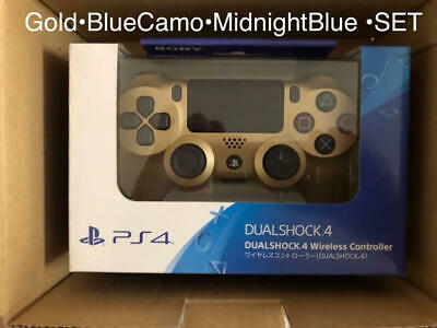 PS4 Dualshock Wireless Controller Gold Blue Camo Midnight Blue 3-pieces set