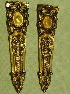 Antique French Pair Gilt Brass Furniture Fittings-Table Chair Desk Mirror Draws