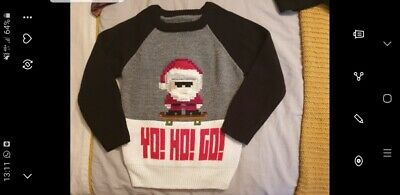 next boys christmas jumper worn once aged 5 years