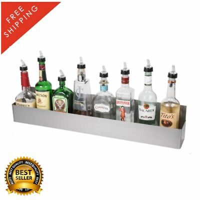"32"" Stainless Steel Single Tier Commercial Bar Speed Rail Liquor Display Rack"