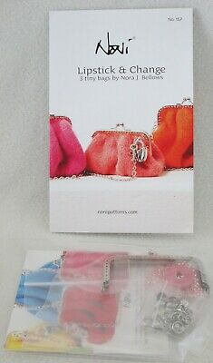 Noni Lipstick & Change Purse Pattern & Supplies for Felted Bag-No Yarn