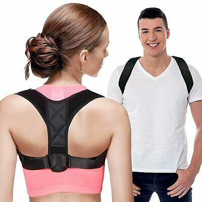Adjustable Posture Corrector Support Back Brace Shoulder Belt IN DUBLIN
