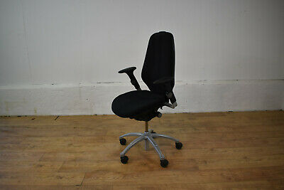 RH Logic Ergonomic Office Swivel Chair Black/Silver [requires TLC] Free Shipping