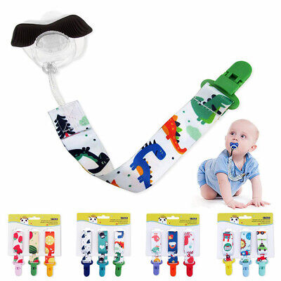 3Pcs Baby Anti-lost Pacifier Chain Clip Holder Dummy Soother Nipple Strap Chain