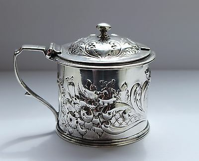 Antique Solid Silver Mustard Pot London 1841 Fully Hallmarked