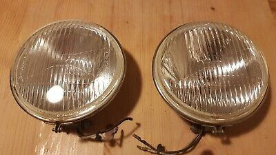 A pair of classic vintage fog lamps escort mini Lambretta etc