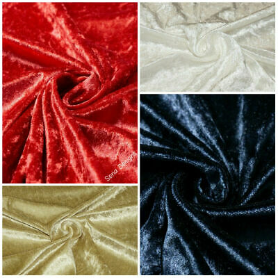 Premium Crushed Velvet Craft Fabric Velour 4 Way Stretch Material RM404