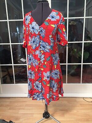 Brand New Ex Dorothy Perkins Sleeveless Blue Shift Party Occasion Dress