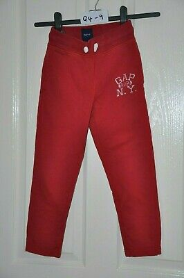 GAP child's red jogging pants, age 6-7 yrs, height 120 cm  : In good condition