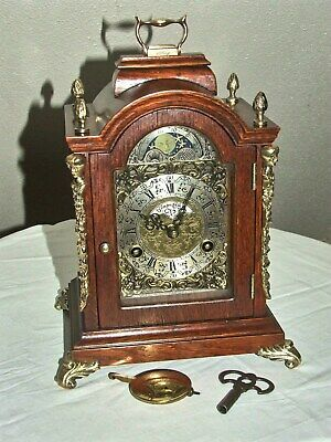 Warmink/Wuba Dutch Bracket Mantel Clock,8 days,Pendulum, Moonphase,2 Bells