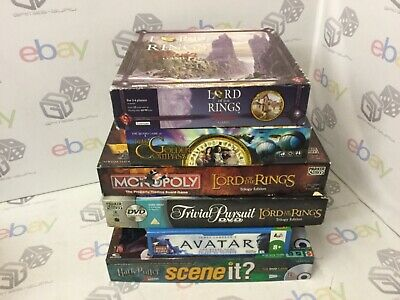 Fantasy Lord Of The Rings BUNDLE Board Game x6 Monopoly Trivial Pursuit Potter
