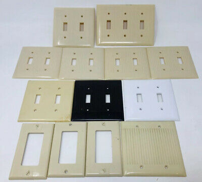 Lot of Vintage Wall Plate Outlets Light Switch Covers 1950's Mid Century SS19