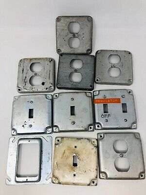 Vintage Indistrial Light Switch Outlet Plate Covers Lot SS19