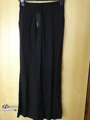 M & S Autograph Black Trousers with Gold Zip each side BNWT Size 12