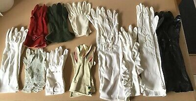 Antique Kid Leather Gloves And Others 11 Pairs All Together