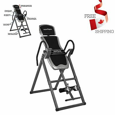 Heavy Duty Adjustable Deluxe Inversion Therapy Table for Health Fitness Exercise