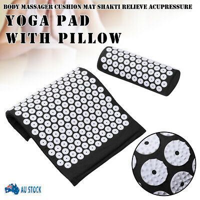 AU Massage Acupressure Mat Yoga Shakti Sit Lying Mats Pain Stress Soreness Relax