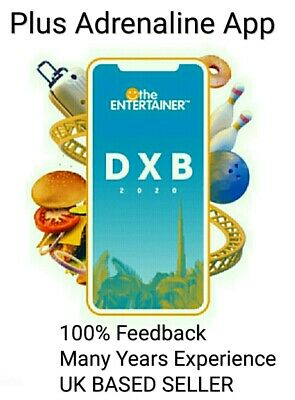 Dubai Entertainer 2020 App Rental + Adrenaline - 7 day - Brand New + Attractions