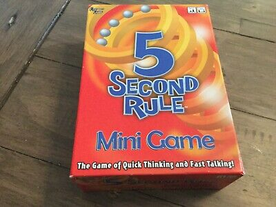 5 Second Rule Mini Game travel game unused cards still sealed