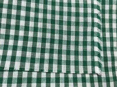 Cotton Small Gingham Checkered Gray Cotton Fabric Print by Yard D686.07