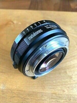 METABONES ULTRA SPEED BOOSTER ULTRA N/F - E Mount EXCELLENT ++ Nikon Sony