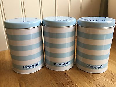 Kitchen Collectables Cravendale Tea Coffee & Sugar Canisters Caddy Jars Pots New