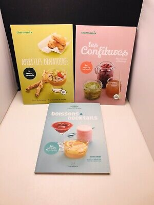 Lot 3 Livres Recettes Thermomix Neuf