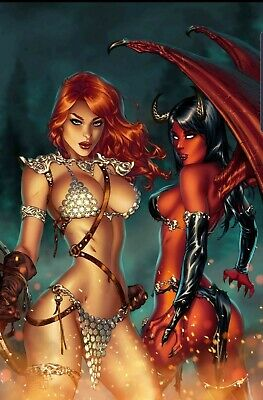 Red Sonja Age Of Chaos #1 Ebas Virgin Variant Presell End Jan Hot Sexy Cover